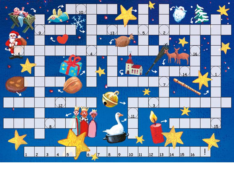 Kreuzworträtsel postkarte frohe weihnachten inkognito verlag 2006
